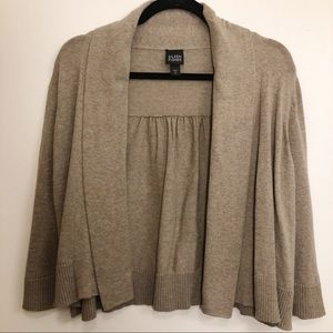 Eileen Fisher   Brown Draped Front Cardigan